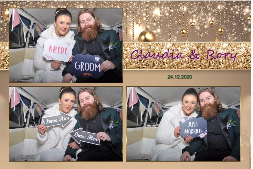 Bride and Groom - Vintage Campervan Photo booth hire Northern Ireland