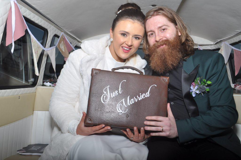 Just married prop in Campervan Photo booth - Northern Ireland