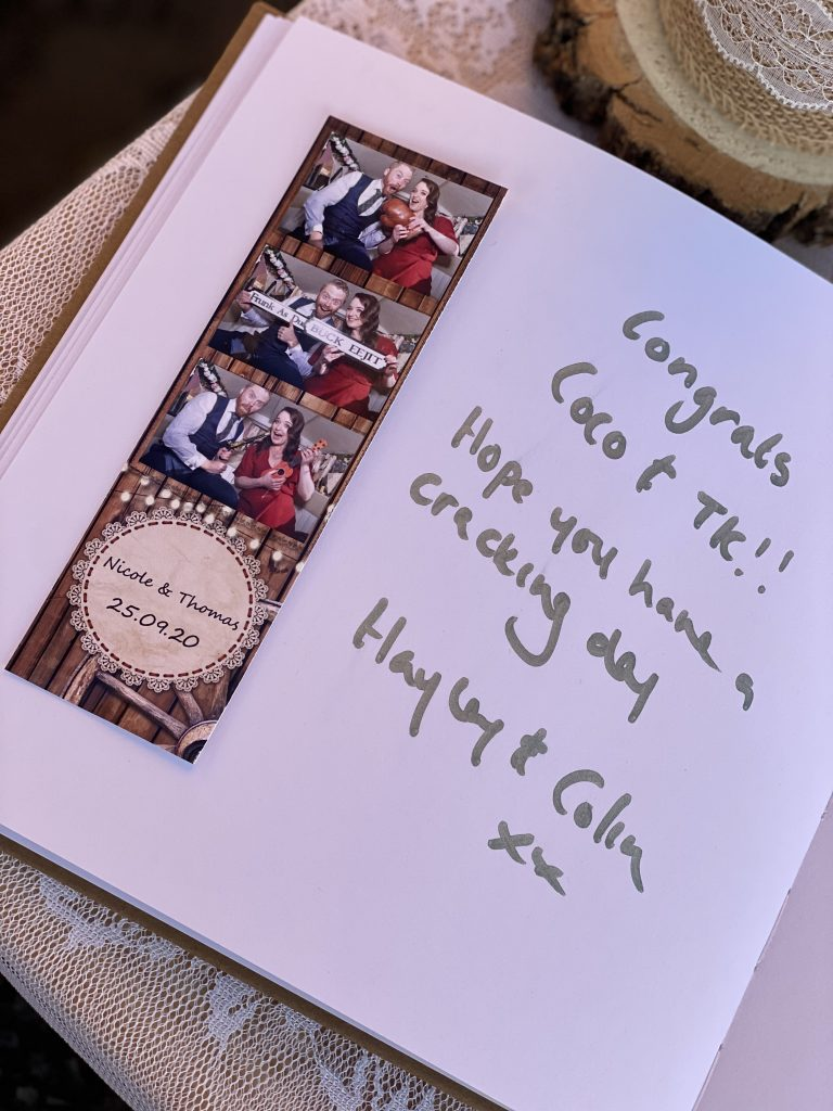 Photo booth guest book - The quirky Camper booth